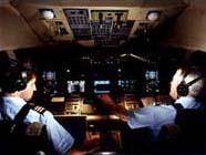 Airline Pilots in Cockpit