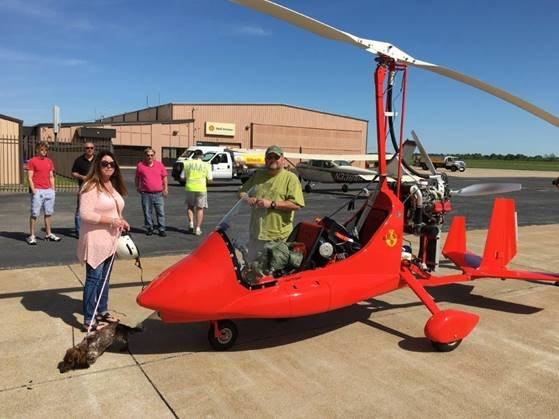 Gyroplane Pilot Claims New Distance Record