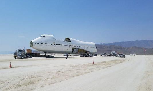 Burning Man Lands A 747
