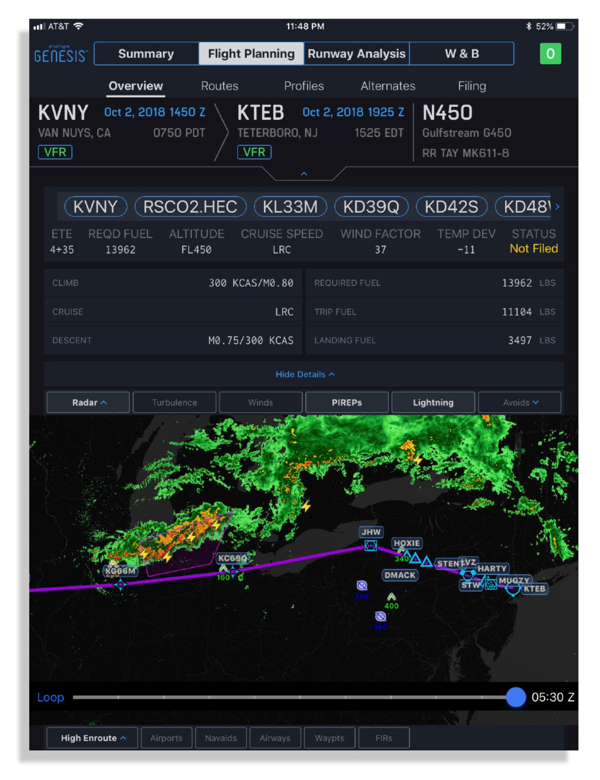 Flight Planning For Jets: iPreflight Genesis