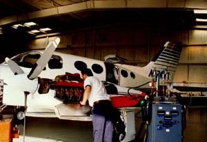 Preflighting a Cessna 414A