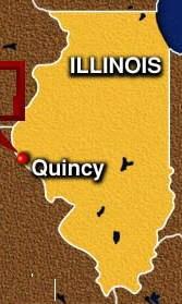 Quincy (Illinois) map