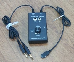 The audio interface plugs into the aircraft's intercom system