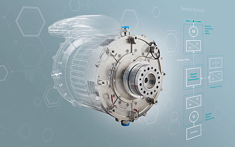 Serial Hybrid Engine Illustration