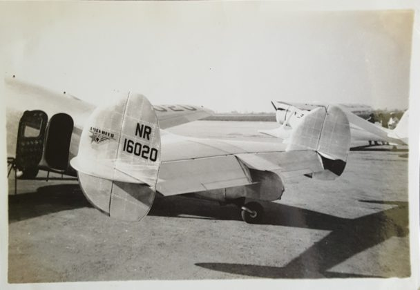 Tail of Earhart's NR 16020
