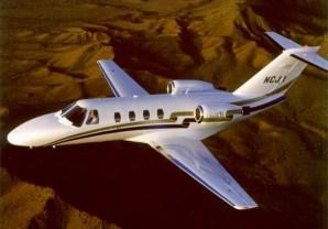 CJ1 in flight