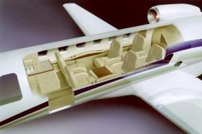 CJ2 cabin cutaway