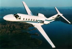 CJ2 in flight