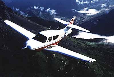 Commander 114B in flight