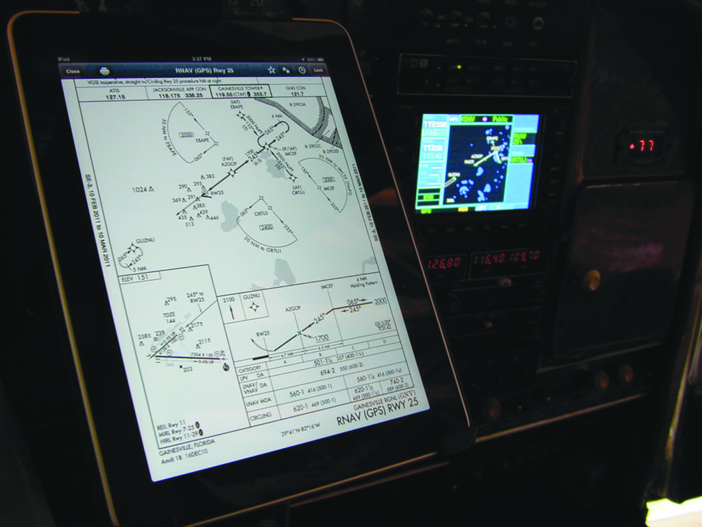 iPad and 530 With Approach Plate