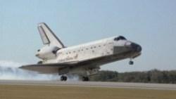 Orbiter on landing approach