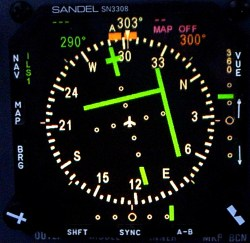 SN3308 flying an ILS