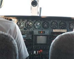 A typical cockpit
