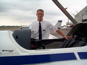 Another CFI pauses before a training flight.