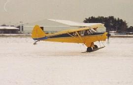 Super Cub landing