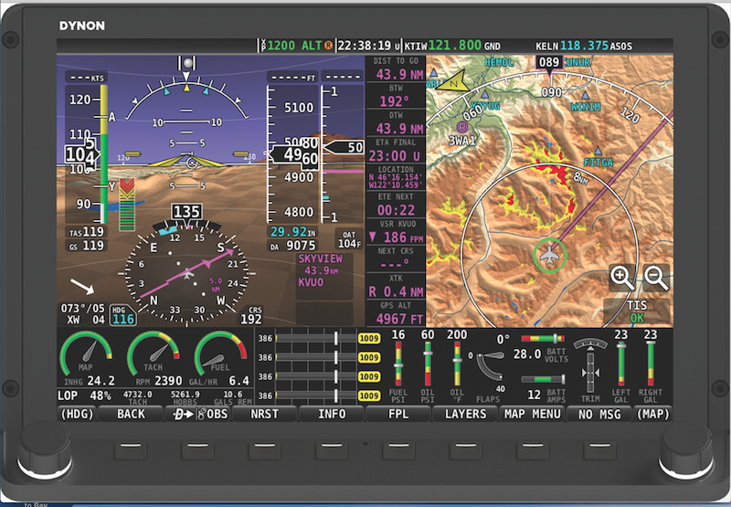 Dynon Avionics Expands EFIS Approvals for Certified Aircraft