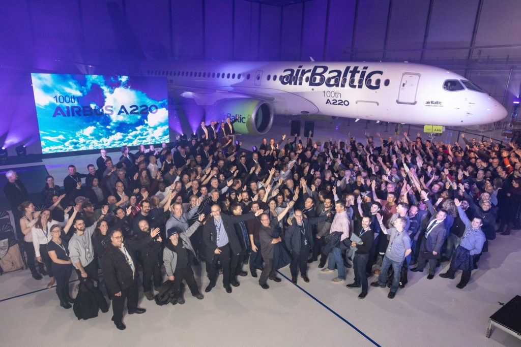Airbus Produces 100th A220