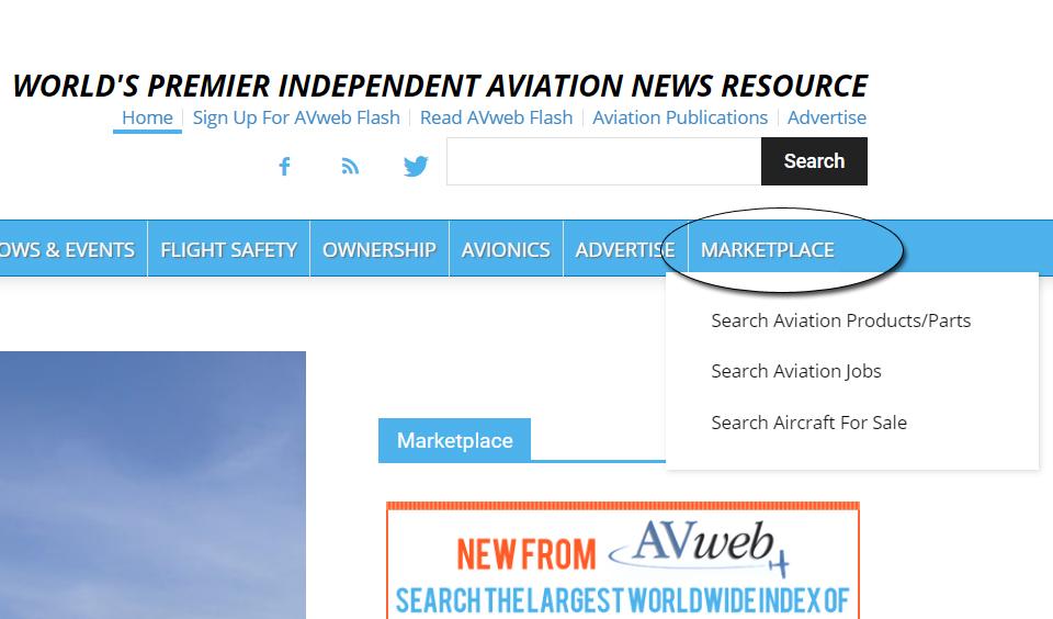 AVweb's Aerosearcher Marketplace Search Engine Expands