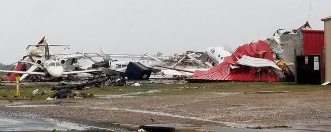 Tornado Rips Monroe Airport