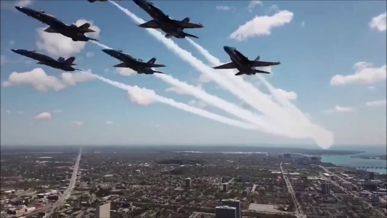 Drone's Blue Angels Close-Up Slammed