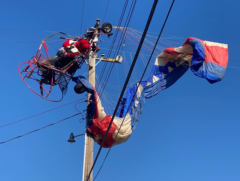 Santa Uninjured In Powered Parachute Crash